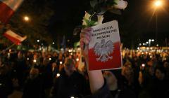 Protest w obronie sadow w Krakowie