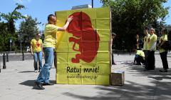 Pikieta przeciwnikow aborcji pod Sejmen