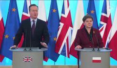 Premier Wielkiej Brytanii David Cameron i premier Beata Szydło, Warszawa, luty 2016