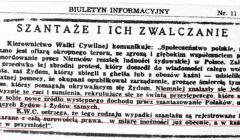 Ogłoszenie Kierownictwa Walki Cywilnej KG AK