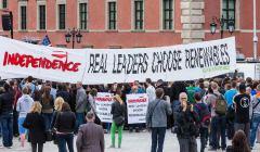 Akcja-Greenpeace-podczas-przemowienia-Baracka-Obamy , czerwiec 2014