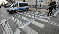 Okolice ambasady Izraela, policja zamyka ruch