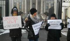 demonstracja w sprawie Guty