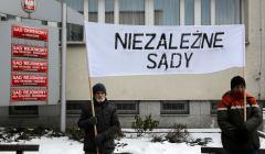 Protest Akcji Demokracji w Krakowie