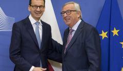 Jean-Claude Juncker Mateusz Morawiecki