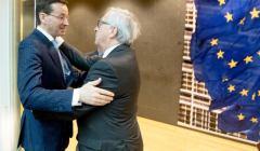Mateusz Morawiecki i Jean-Claude Juncker, 8 marca 2018