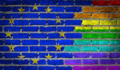 Dark brick wall - LGBT rights - EU