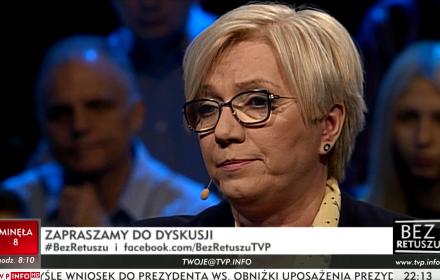 """""""Bez retuszu"""" w TVP Info"""