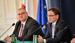 Prokurator Krajowy Bogdan Świeczkowski i minister Zbigniew Ziobro