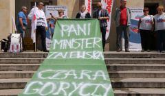 Protest oświatowej S Dolny Śląsk, czerwiec 2018