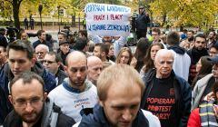Protest-lekarzy-przed-kancelaria-premiera, październik 2017 r.