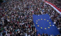 Protest w Warszawie w obronie Sadu Najwyzszego