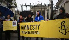 Protest pod ambasada rosyjska .