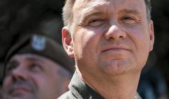 Prezydent RP Andrzej Duda na poligonie w Nowej Debie