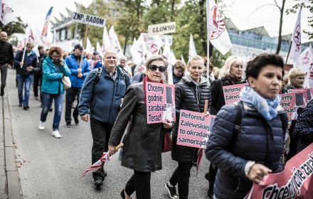 Manifestacja Zwiazku Nauczycielstwa Polskiego