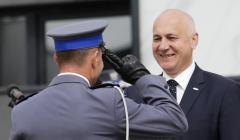 Otwarcie nowej komendy powiatowej policji w Krakowie z udzialem ministra spraw wewnetrznych i administracji Joachima Brudzinskiego