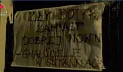 baner na pałacu abp Michalika, 9 IX 2018