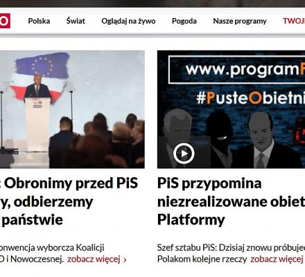 Wynalazek TVP: kontruje na paskach przemówienia Schetyny i Lubnauer propagandą PiS