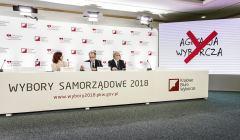 Konferencja prasowa PKW przed wyborami samorzadowymi