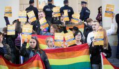 Protest w obronie Marszu Rownosci w Lublinie