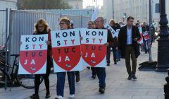 Protest przed Sadem Najwyzszym w Warszawie