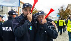 protest służb mundurowych, 2 października 2018, fot. Izabela Kokoszyńska