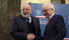 Spotkanie Czaputowicz i Timmermans