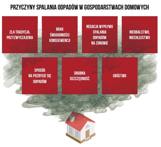 """Źródło: Raport """"Poza kontrolą – analiza systemu kontroli palenisk domowych"""", Polski Alarm Smogowy, Kraków 2018"""