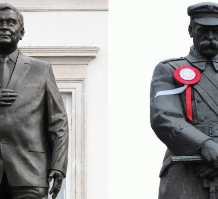 """Sasin: """"Pomniki Kaczyńskiego i Piłsudskiego porównywalne wielkością"""". A bohaterowie?"""
