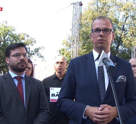 Przemyśl. Narodowcy i antyukraińscy działacze cieszą się z nowego prezydenta Bakuna