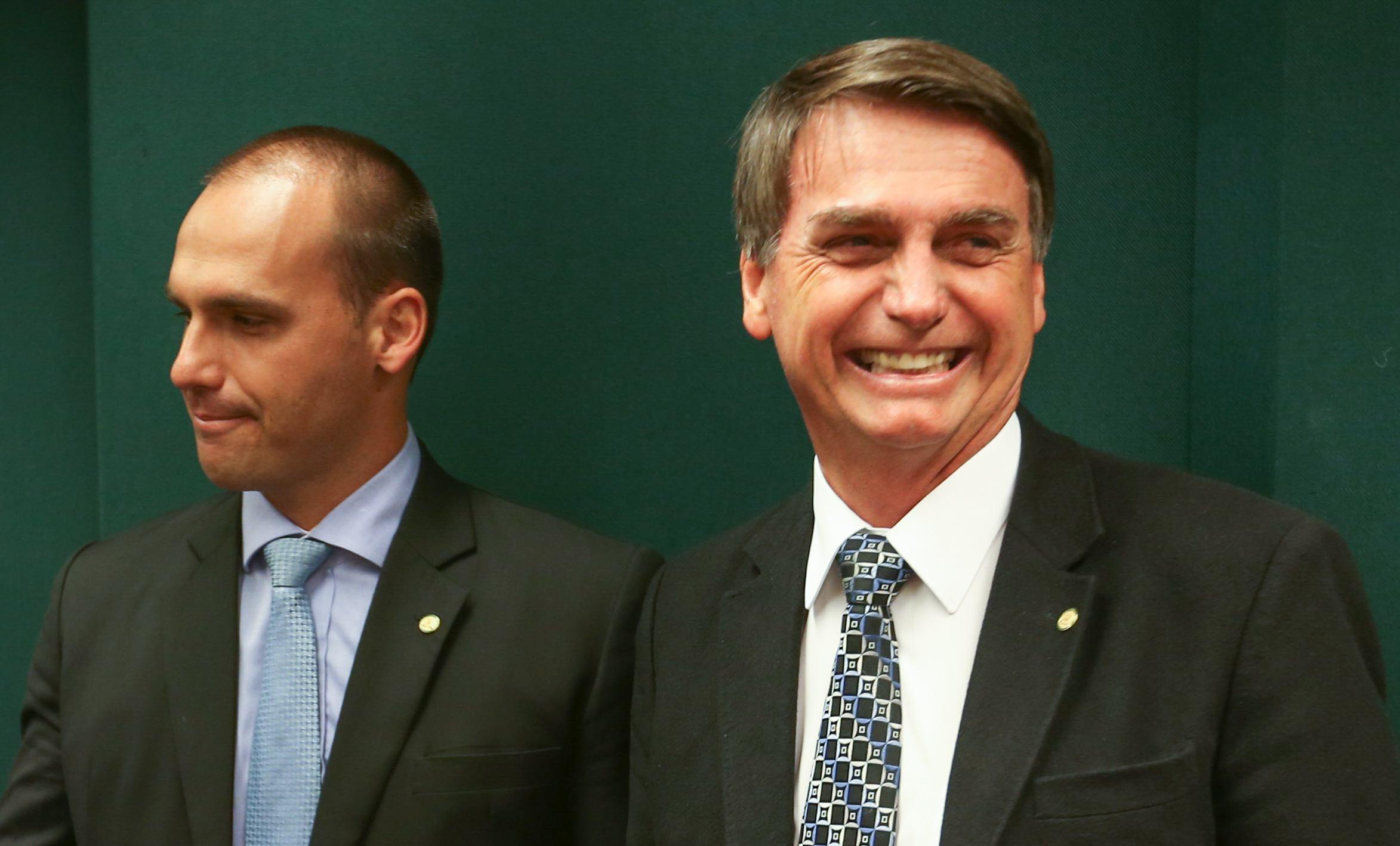 Eduardo Bolsonaro, syn, i Jair Bolsonaro