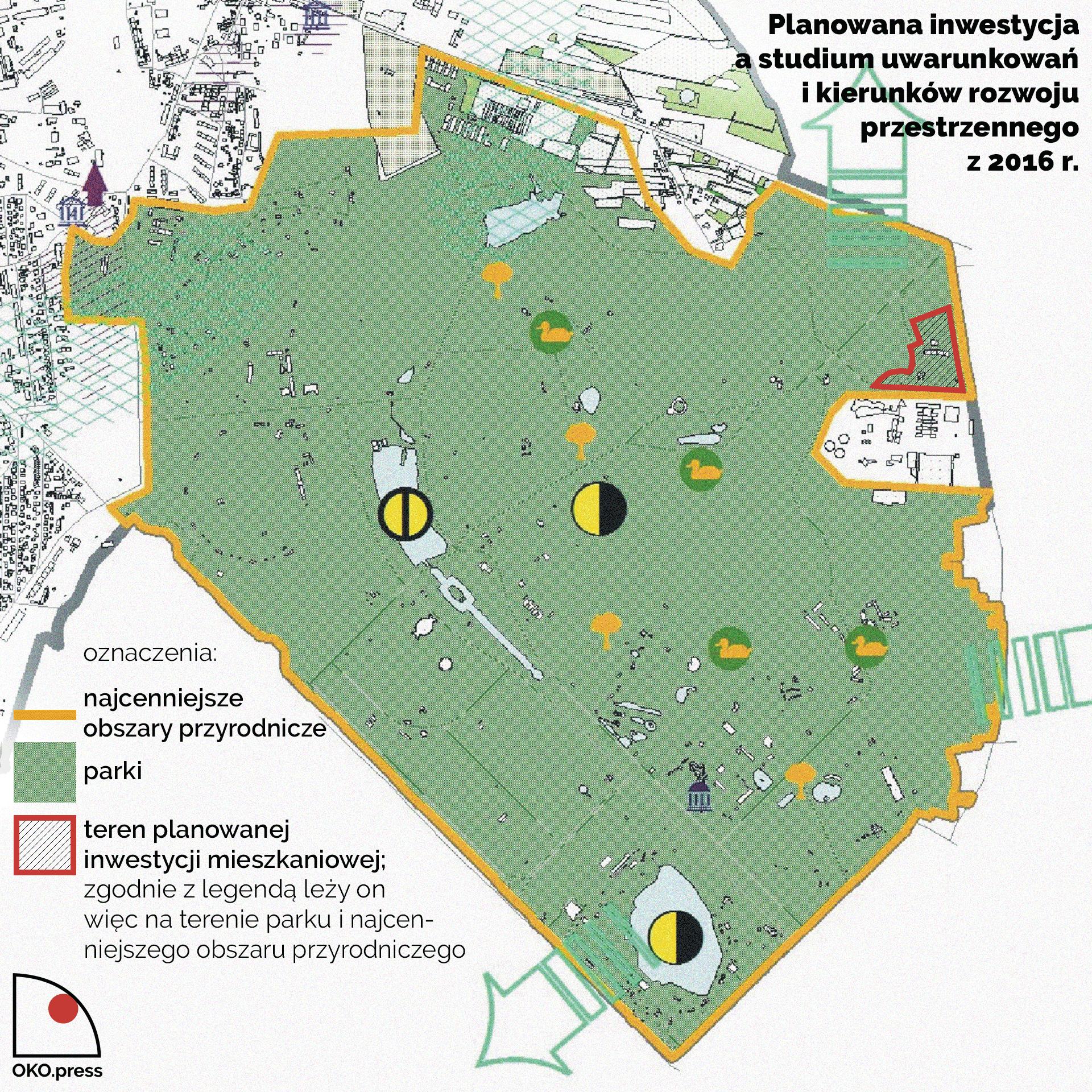 Planowana inwestycja na tle studium uwarunkowań i kierunków rozwoju przestrzennego Chorzowa