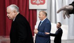 Trzech polityków: Jarosław Kaczyński, Grzegorz Schetyna i Robert Biedroń