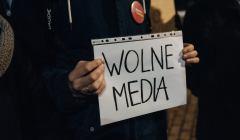 Protest pod Radiem Gdansk