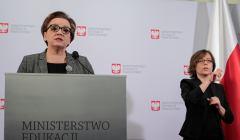 Minister Anna Zalewska na konferencji w Ministerstwie Edukacji Nardoowej