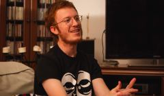 Adrien Beaudin - uczestnik protestów na Węgrzech