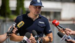 Konferencja prasowa policji w Warszawie w sprawie zatrzyman w czasie protestow pod Sejmem