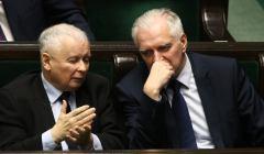 Jarosław Kaczyński i Jarosław Gowin w Sejmie. Wydali wspólne oświadczenie