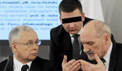Bartłomiej Misiewcz, Antoni Macierewicz i Jarosław Kaczyński