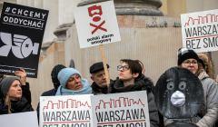 19.12.2018 Warszawa , Plac Bankowy . Demonstracja antysmogowa .