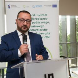 Jarosław Bogusz, szef WFOŚ w Olsztynie przemawia