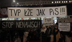 Protest pod redakcja TVP