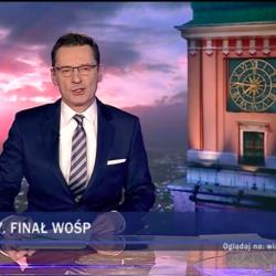 Wielka Orkiestra Świątecznej Pomocy, Wiadomości TVP, 13 stycznia 2019