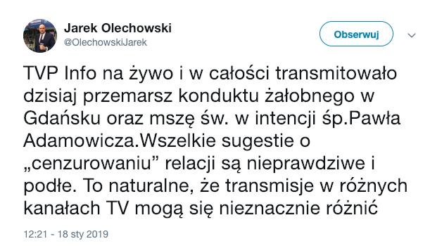 Jarosław Olechowski, TAI, TVP