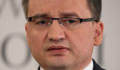 Konferencja prasowa ministra sprawiedliwosci Zbigniewa Ziobro w Warszawie