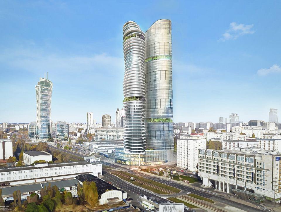Wizualizacja kolejnej wersji wieżowca przy ul. Srebrnej 16