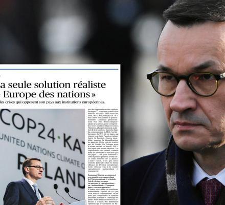 """Morawiecki szkaluje polskie sądy w """"Le Figaro"""". Pokazujemy dwa duże kłamstwa premiera"""