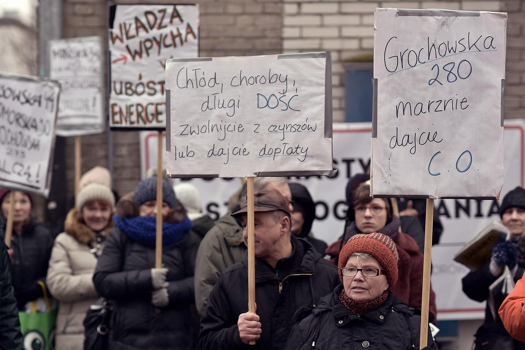 Protestujący mieszkańcy. Fot.: Piotr Stasiak