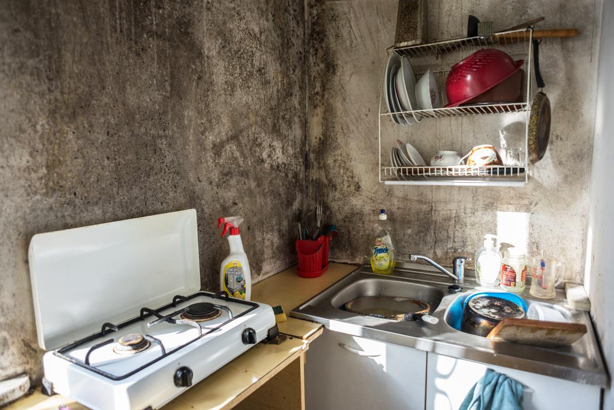 Kuchnia mieszkania przy ul. Mińskiej 13; fot.: WSL