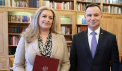 Joanna Lemańska stoi obok Andrzeja Duda